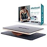 plankpad – Ganzkörper-Fitnesstrainer mit Trainings-App für iOS und Android - Innovatives Balanceboard aus Die Höhle der Löwen in schwarz/walnuss