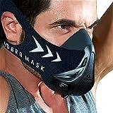 FDBRO Sportmaske - Workout-Trainingsmaske - High-Altitude-Endurance-Maske erhöht die Kraft, Laufwiderstand Atemmaske mit Tragetasche (schwarz, M(70-100kg))