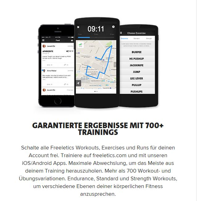 Freeletics Coach Smartphone