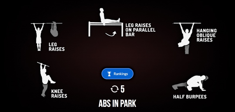 The Madbarz Routine Abs In Park Has 5 Laps With Exercises Workout Are Knee Raises Leg On