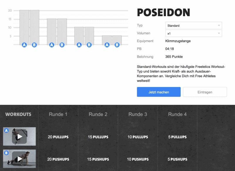 Freeletics Poseidon - Das Workout im Überblick