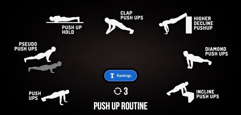 Push up Routine - Madbarz workout with video-explanation