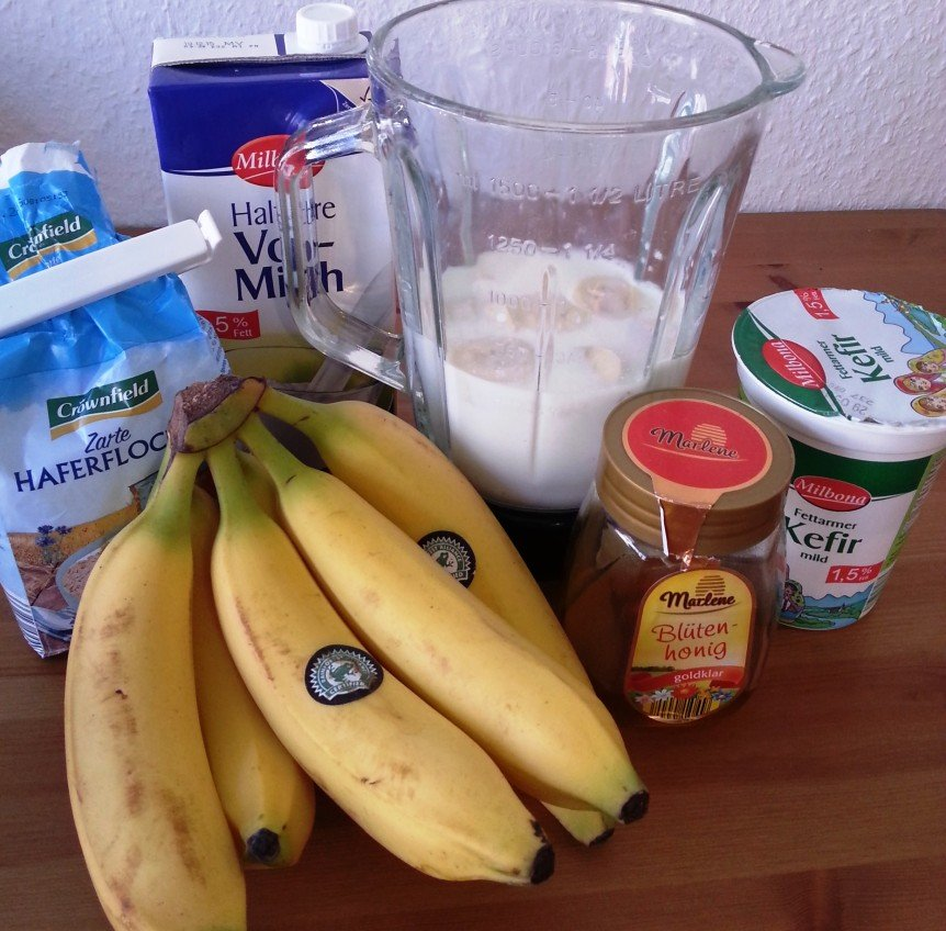 Honig Bananen Shake High Carb