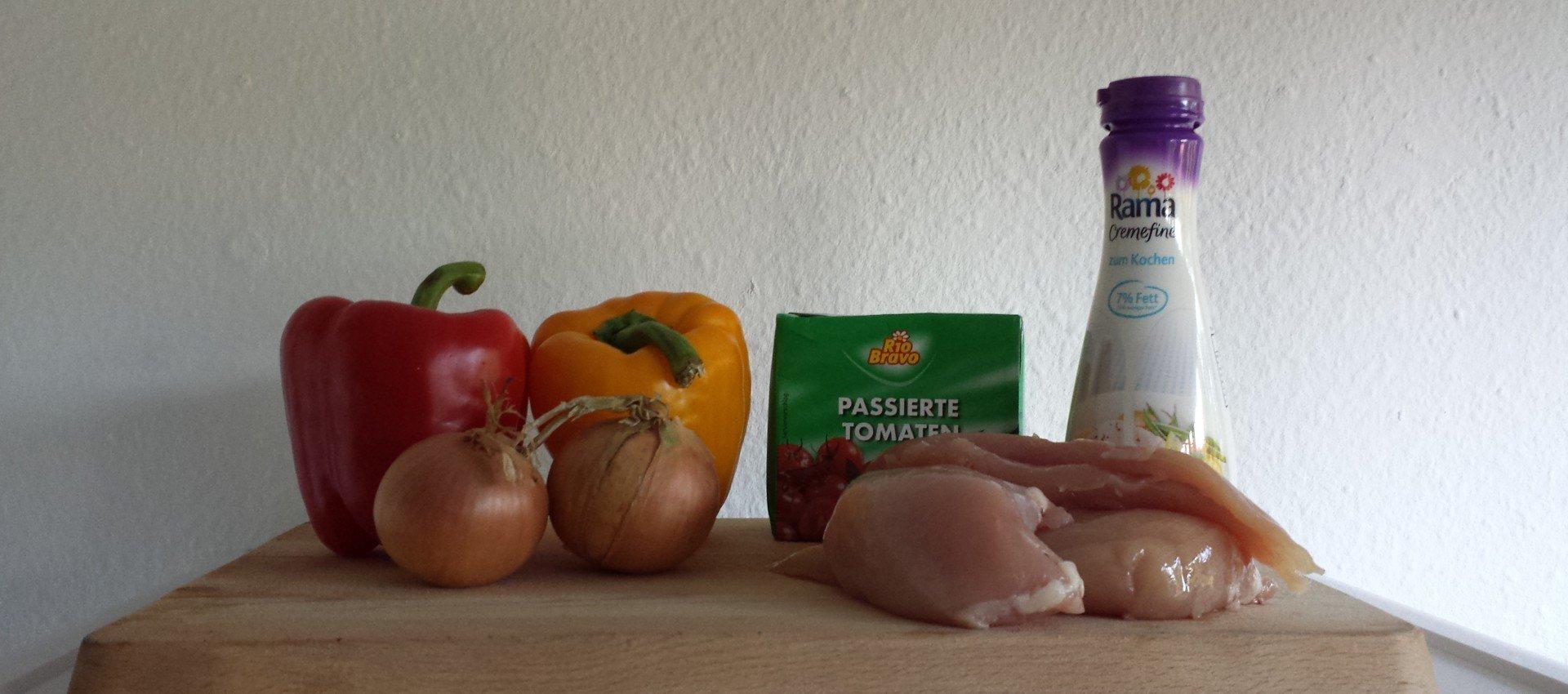 Paprika-Hähnchen-Pfanne