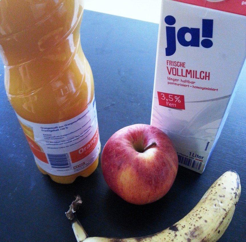 Apfel-Bananen Shake