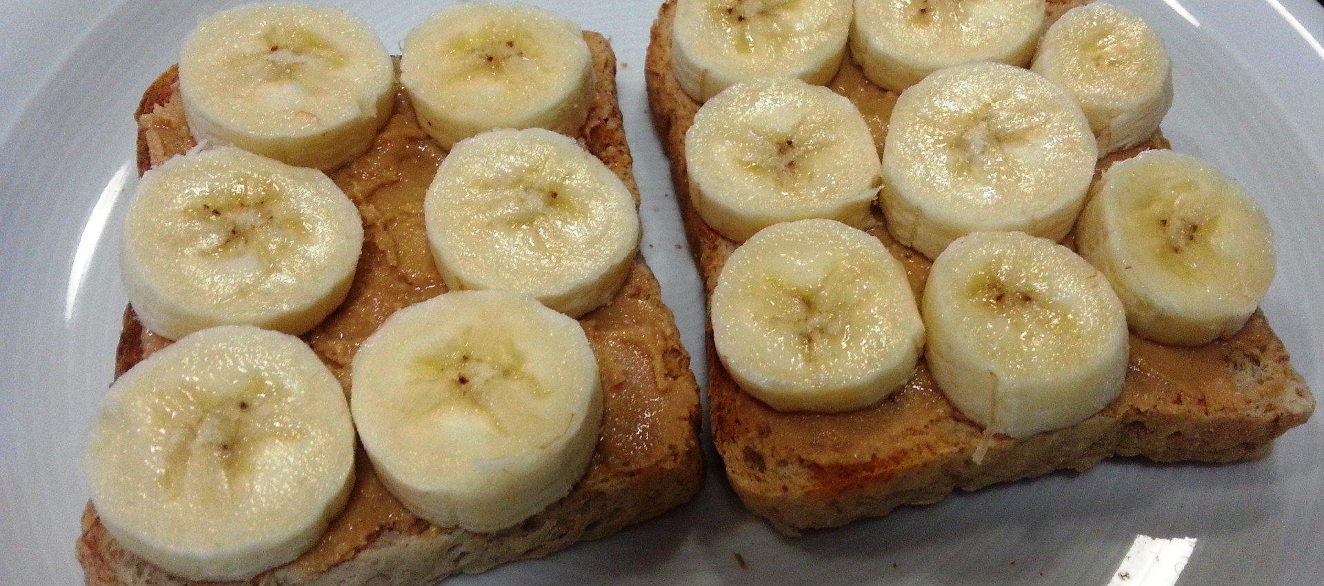 Erdnussbutter Bananen Brot
