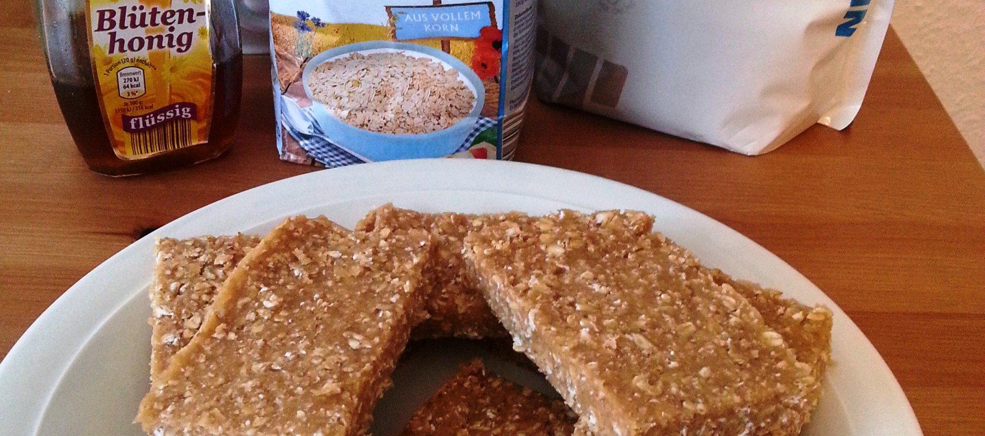 Energieriegel Kokos Vanille mit Honig