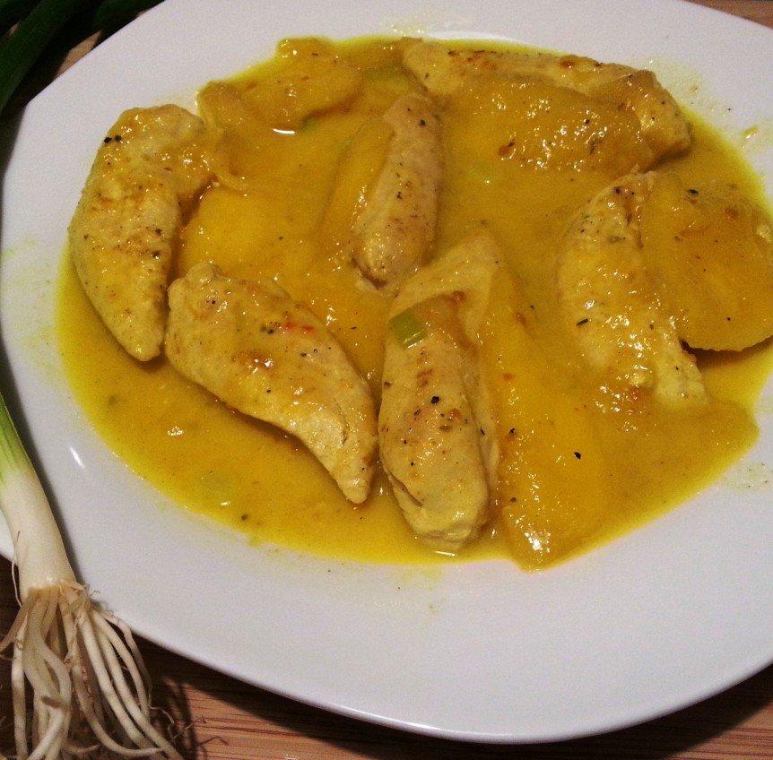 Kokos - Hähnchen mit Mango