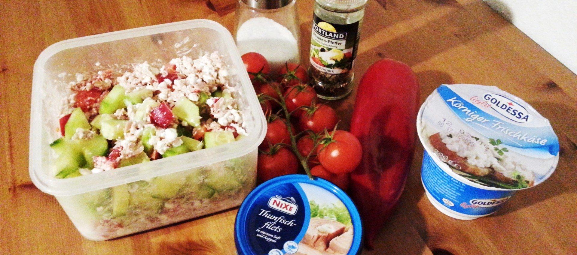 Frischkäse Thunfisch Salat