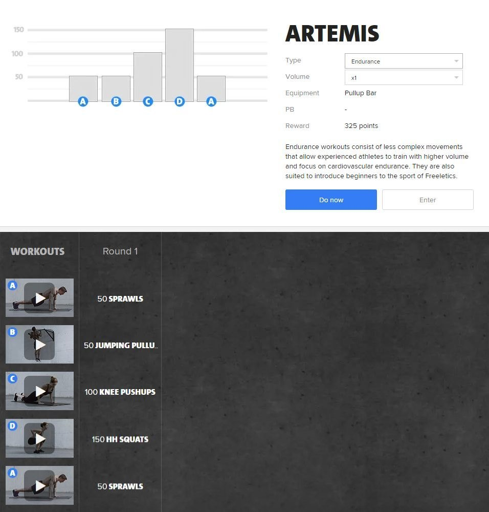 Freeletics Artemis - Freeletics bodyweight workout