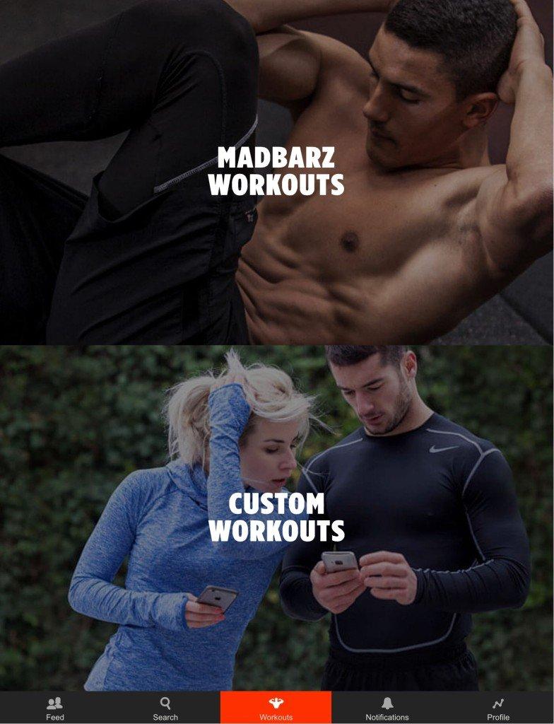 Madbarz App Workout auswaehlen