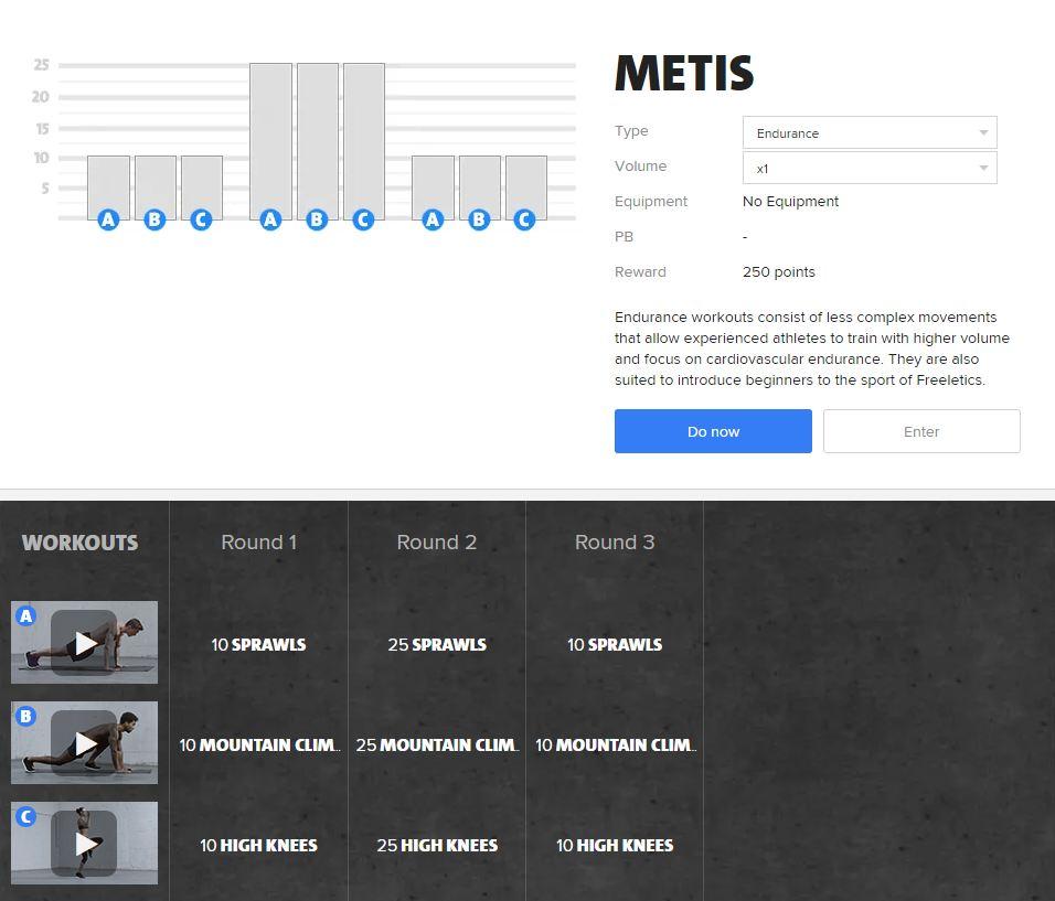 Freeletics Metis - Freeletics bodyweight workout