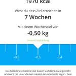 YAZIO App Kalorienziel