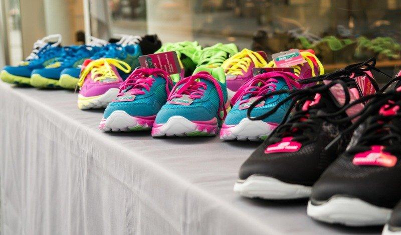 Wahl der Schuhe
