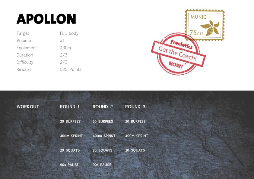 Freeletics Apollon - Freeletics bodyweight workout