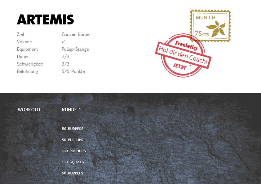 Freeletics Artemis Workout