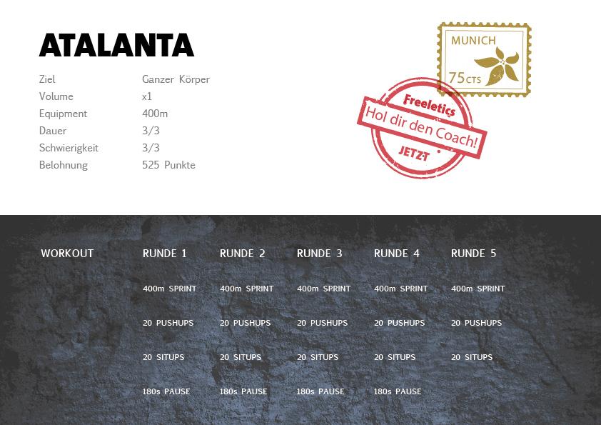 Freeletics Atalanta Workout