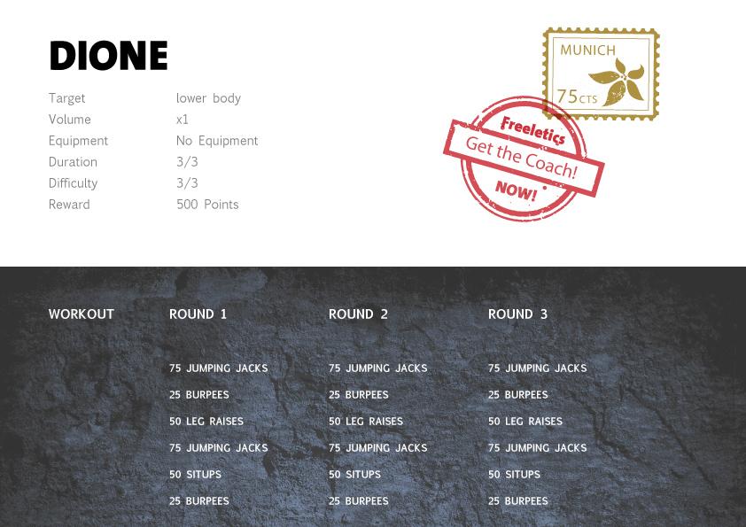 Freeletics Dione - Freeletics bodyweight workout