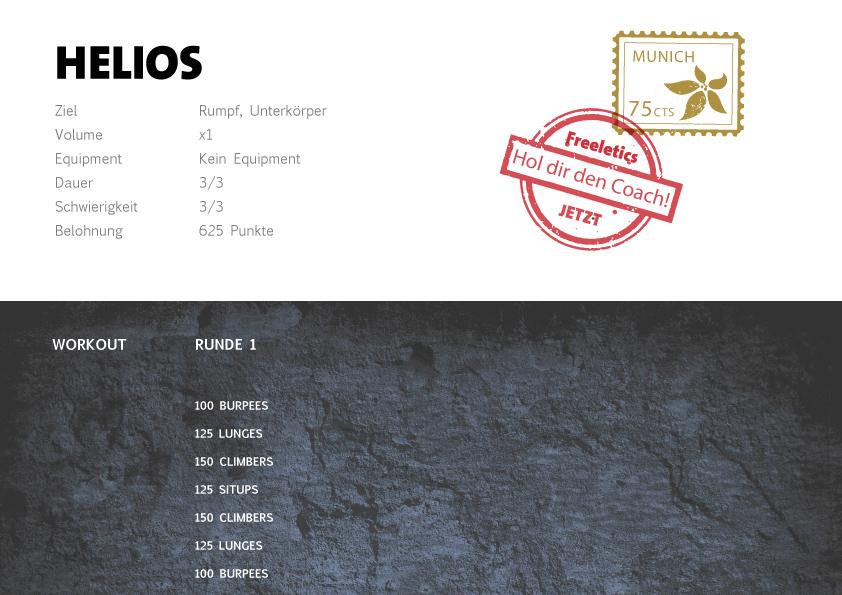 Freeletics Helios Workout