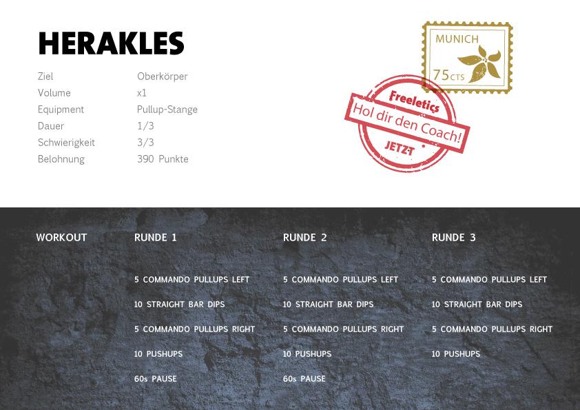 Freeletics Herakles Workout