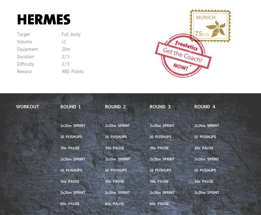 Freeletics Hermes Workout English