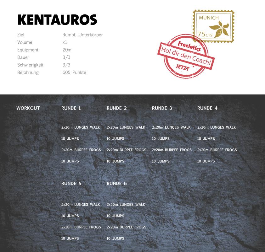 Freeletics Kentauros Workout