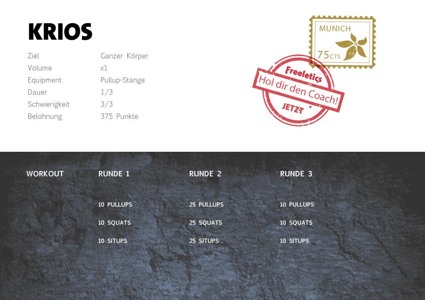 Freeletics Krios Workout
