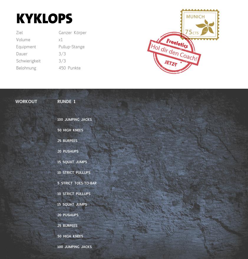 Freeletics Kyklops Workout