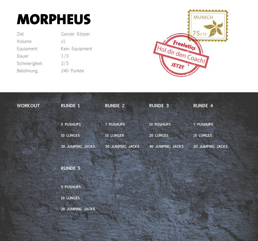 Freeletics Morpheus Workout