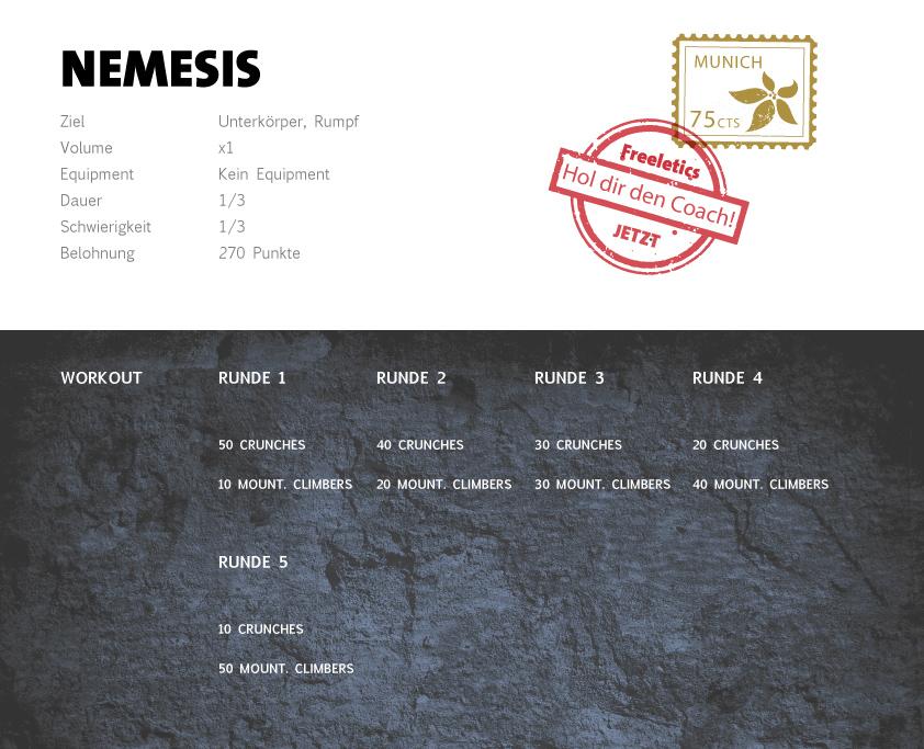 Freeletics Nemesis Workout
