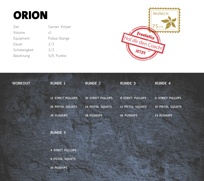 Freeletics Orion Workout