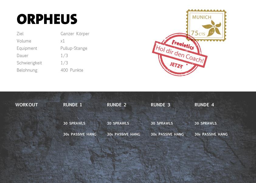 Freeletics Orpheus Workout