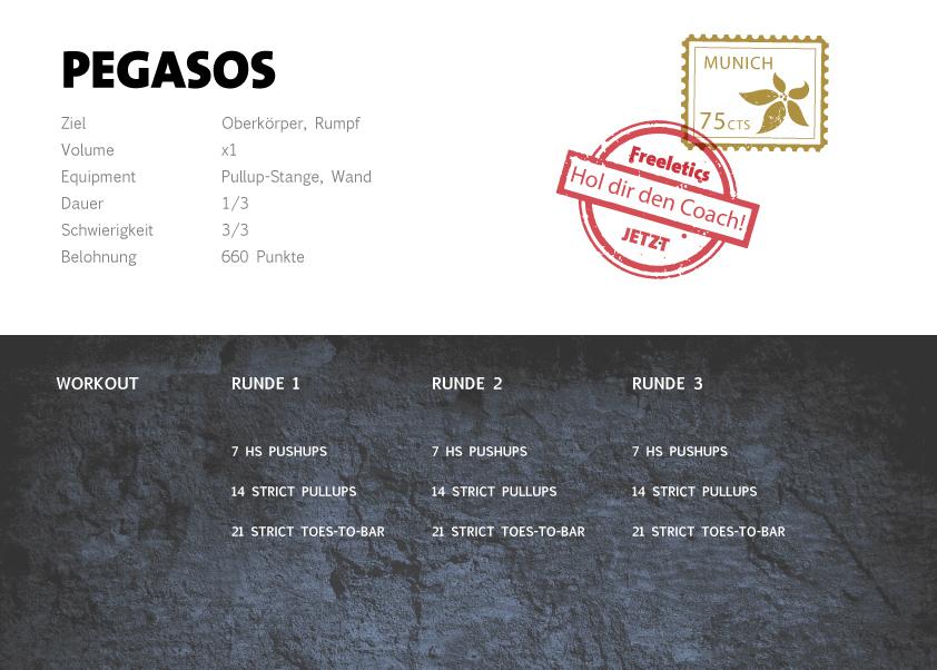 Freeletics Pegasos Workout