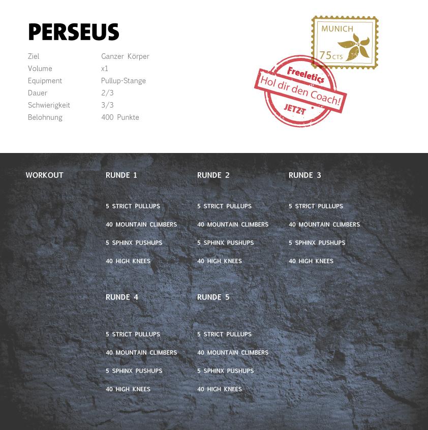 Freeletics Perseus Workout