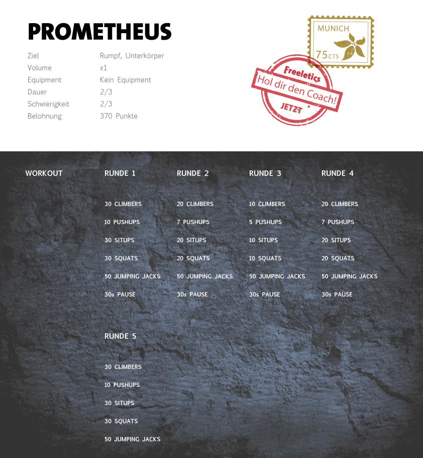 Freeletics Prometheus Workout