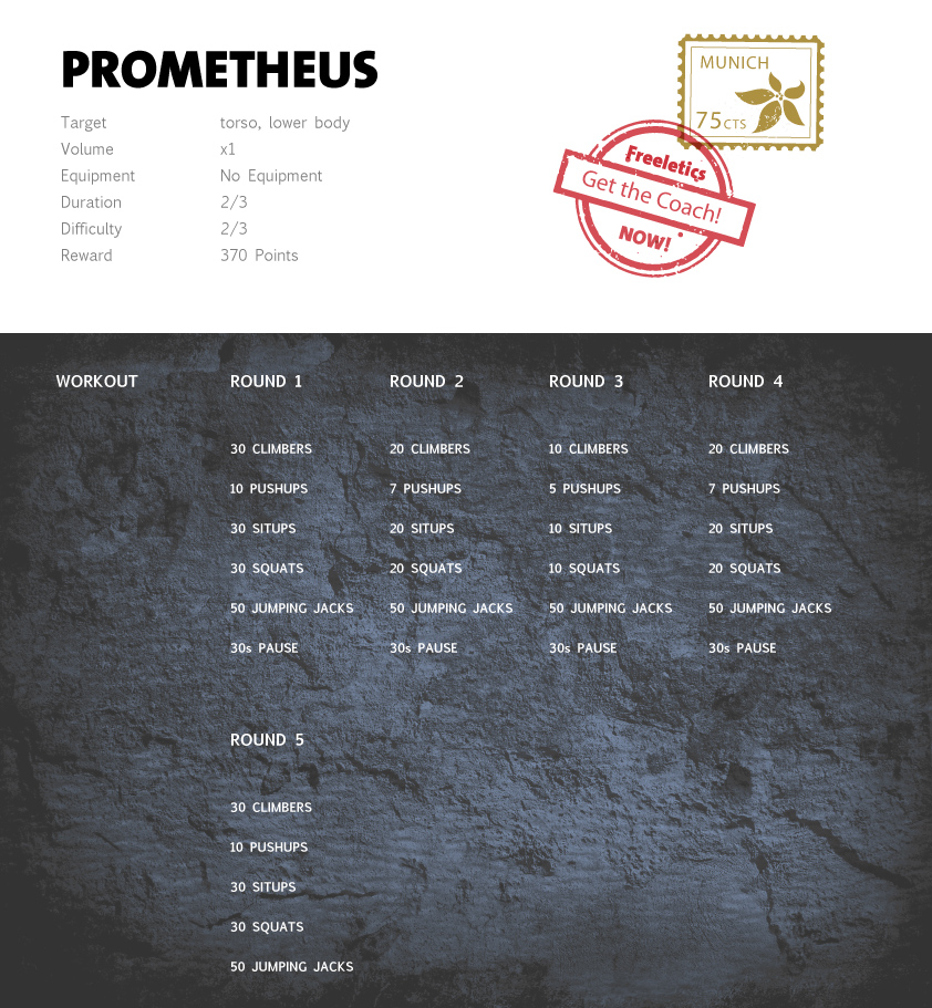 Freeletics Prometheus - Freeletics bodyweight workout