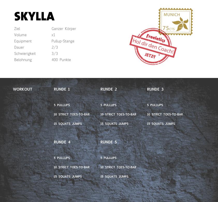 Freeletics Skylla Workout