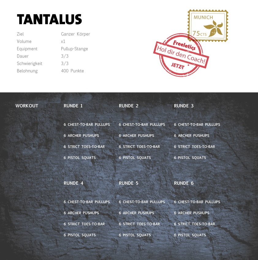 Freeletics Tantalus Workout